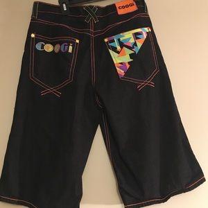 Coogi Neon Jean Shorts